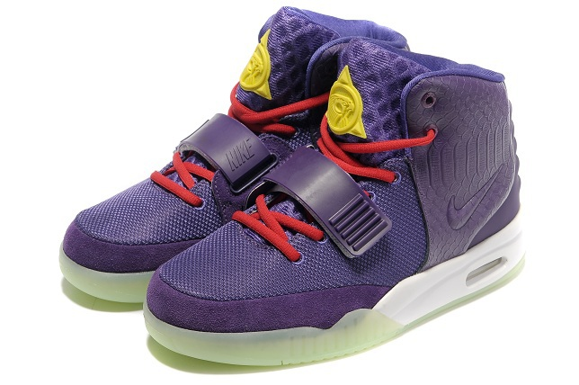 2013 Air Yeezy 2 Purple White Shoes