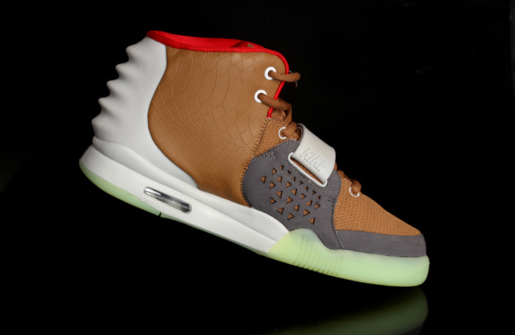2013 Air Yeezy 2 White Brown Shoes