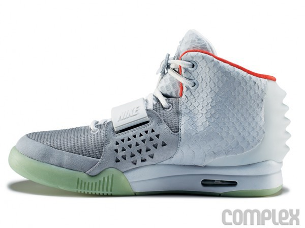 2013 Air Yeezy 2 White Grey Shoes