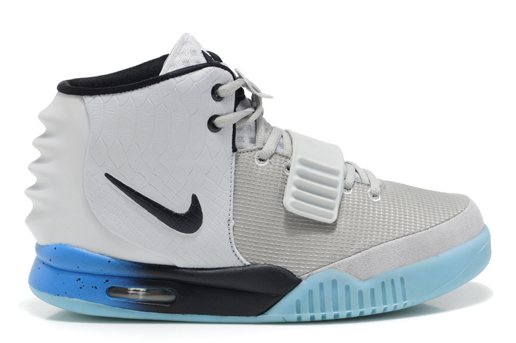 2013 Air Yeezy 2 White Light Blue Shoes