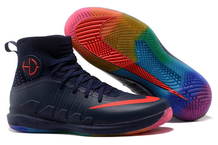 Nike Hyperdunk Green 3 Dark Blue Red Shoes