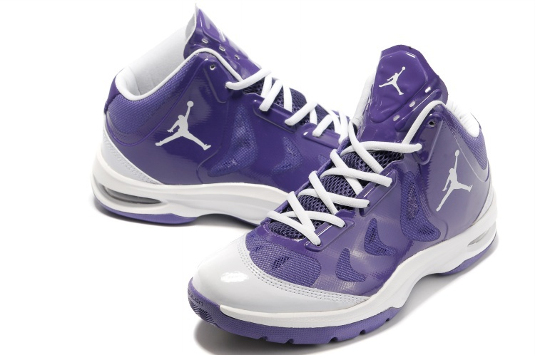 Nike Jordan Play In These Purple White Basketball Shoes