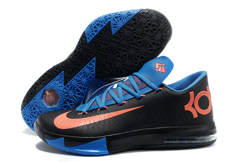 Nike Kevin Durant 6 Black Blue Orange Shoes