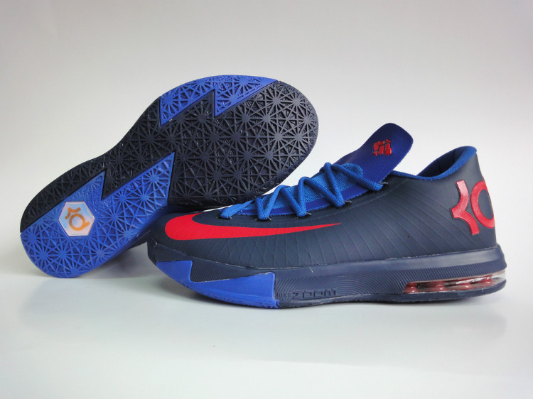 Nike Kevin Durant 6 Dark Blue Red Shoes