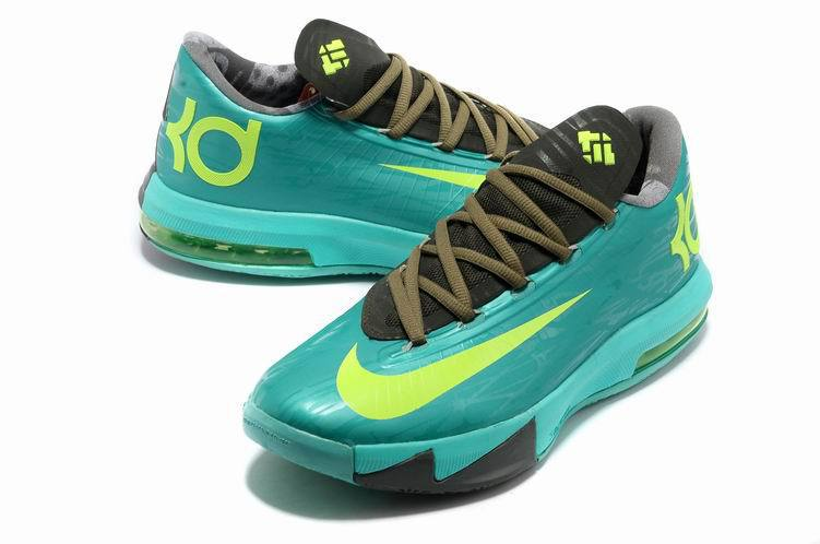 Nike Kevin Durant 6 Green Black Shoes