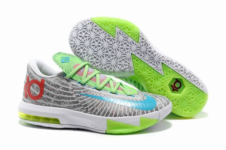 Nike Kevin Durant 6 Grey White Green Shoes