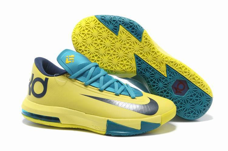 Nike Kevin Durant 6 Light Yellow Blue Shoes