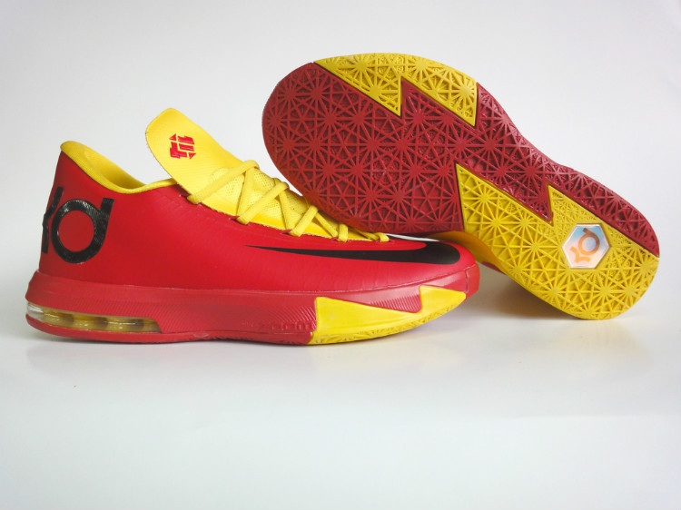 Nike Kevin Durant 6 Red Yellow Shoes