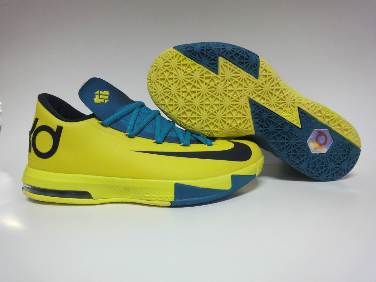 Nike Kevin Durant 6 Yellow Blue Black Shoes