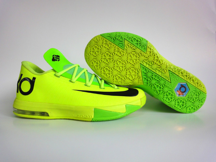 Nike Kevin Durant 6 Yellow Green Shoes