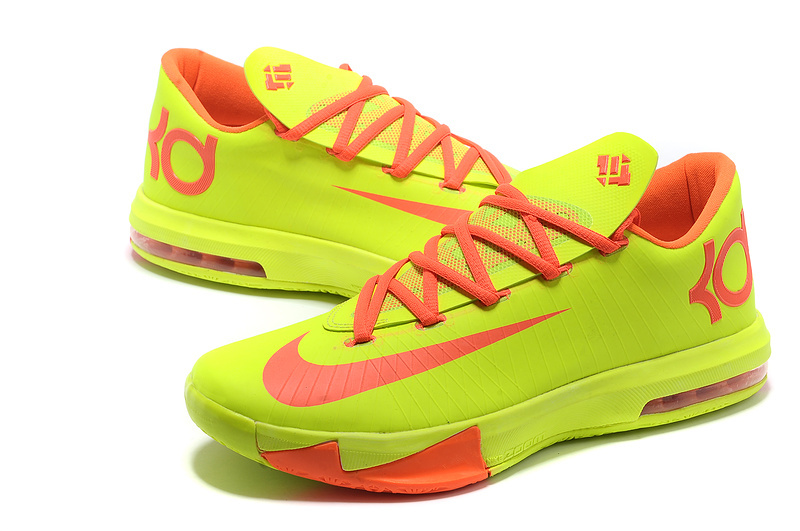 Nike Kevin Durant 6 Yellow Red Shoes