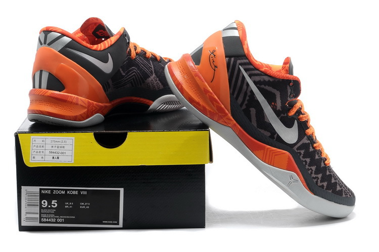 the best attitude 643ed 2c646 Nike Kobe Bryant 8 System Easter Black Orange Shoes