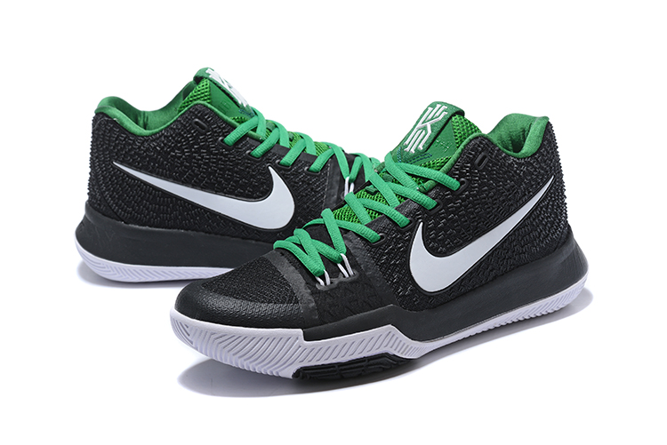 New Nike Kyrie Irving 3 Black Green Glow In Dark Shoes