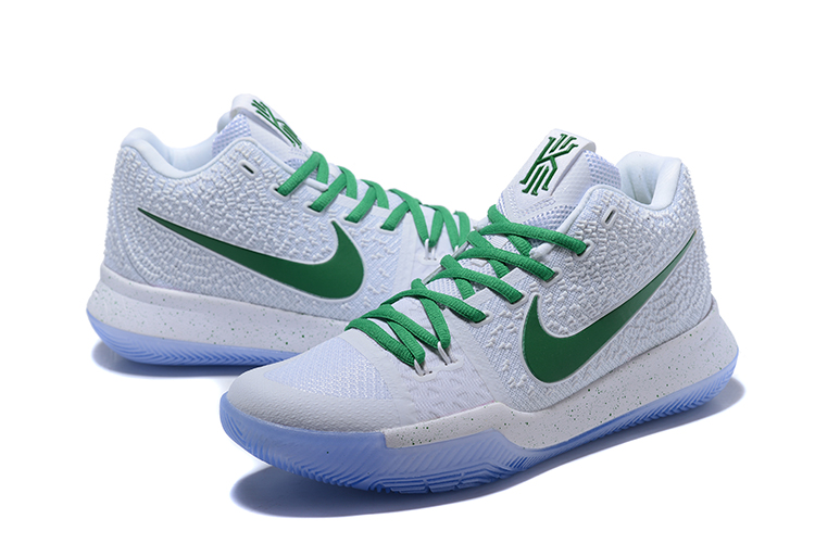 New Nike Kyrie Irving 3 White Green Glow In Dark Shoes