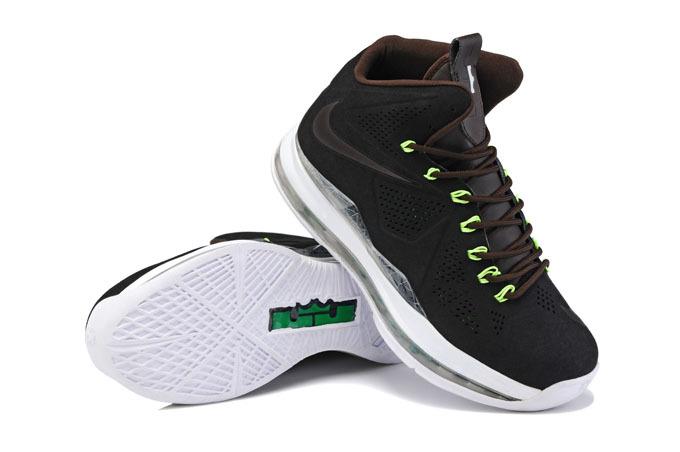 Nike Lebron James 10 CUT Edition Black White Shoes