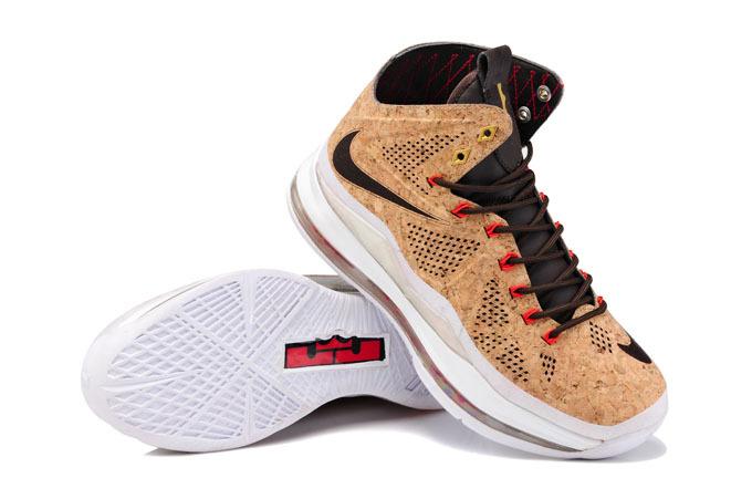 Nike Lebron James 10 CUT Edition Coffe Black White Shoes