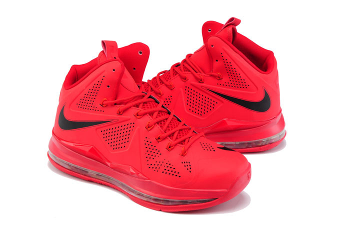 Nike Lebron James 10 CUT Edition Red Black Shoes