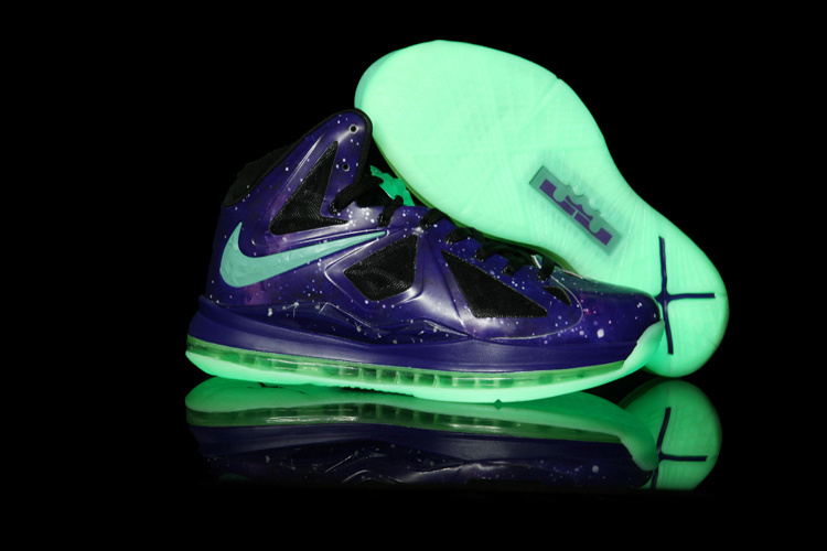 Nike Lebron James 10 Midnight Blue Green