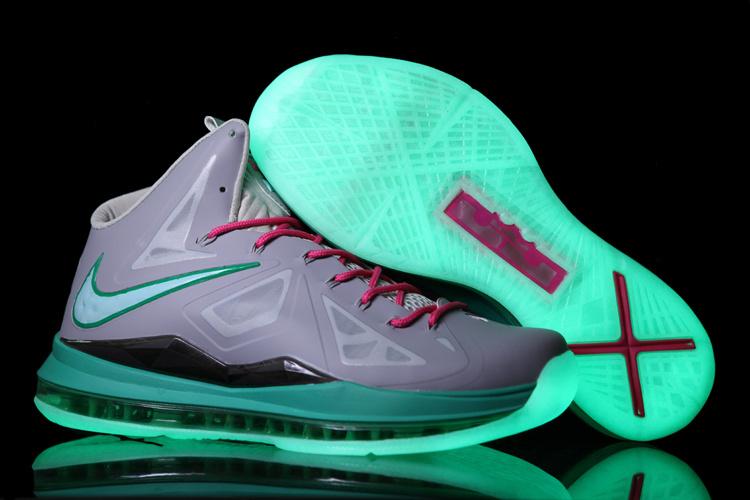 Nike Lebron James 10 Midnight Grey Green