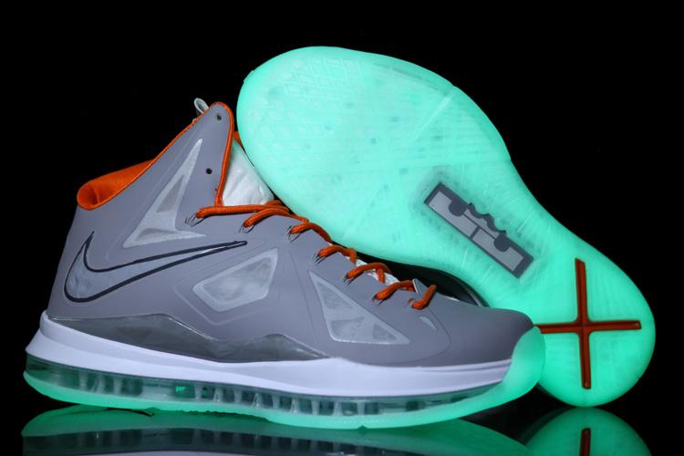 Nike Lebron James 10 Midnight Grey White