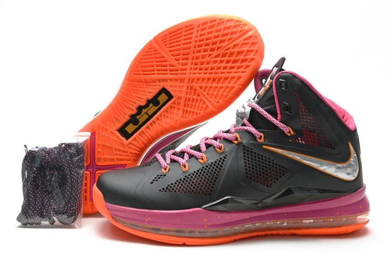 Nike Lebron James 10 Midnight Hardcover Black Pink Orange