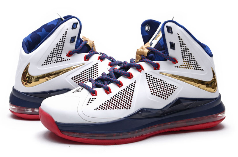 Nike Lebron James 10 Midnight Hardcover White Blue Red