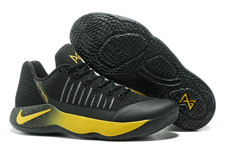 Paul George 2 Black Gloden Shoes On Sale
