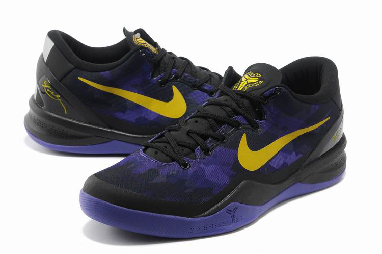 Nike Kobe Bryant 8 Christmas Edition Black Purple Yellow