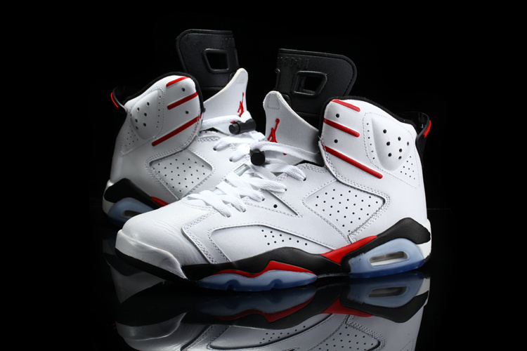2015 Cheap Real Air Jordan 6 Retro White Red Black