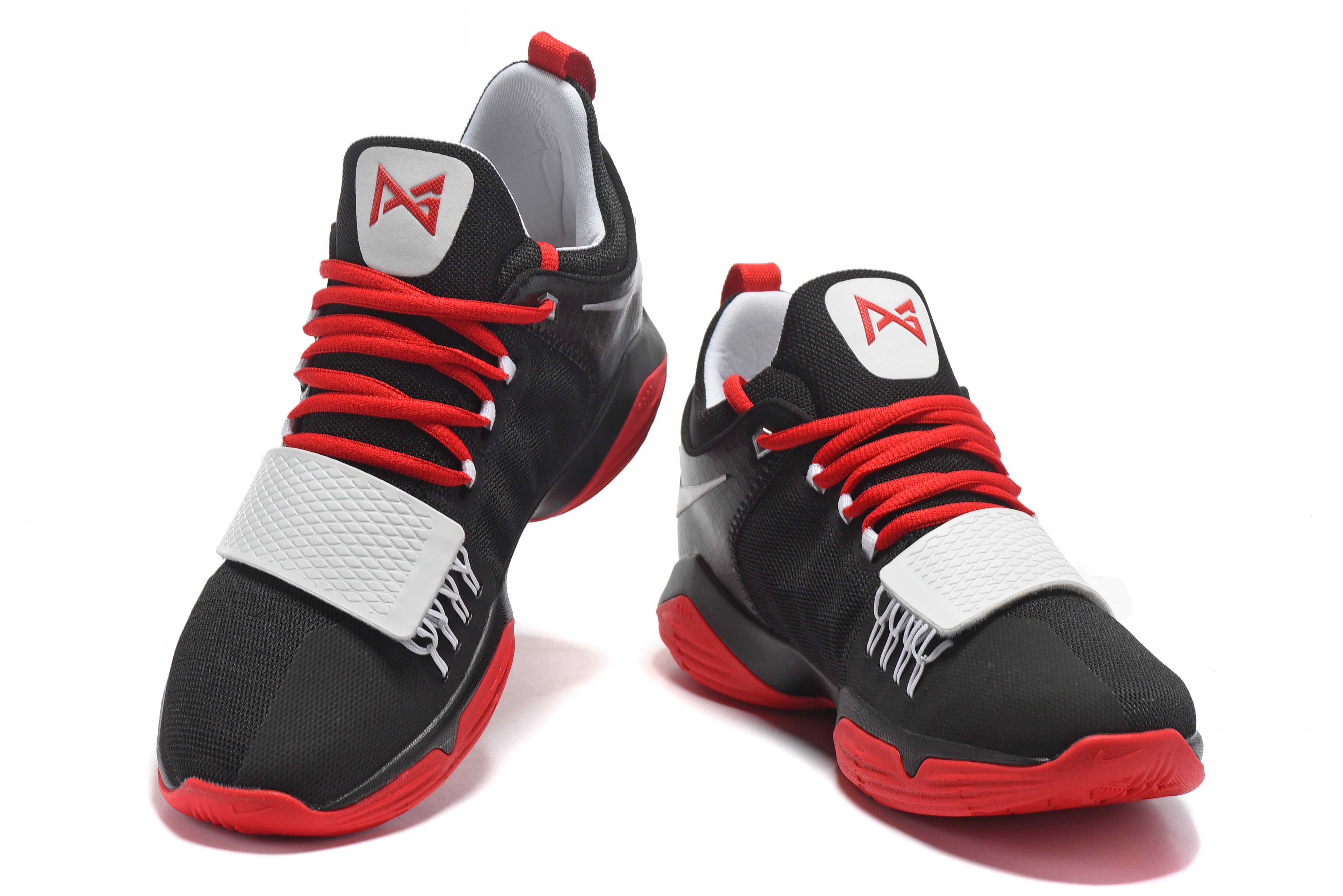Paul George 1 Black Red Shoes On Sale