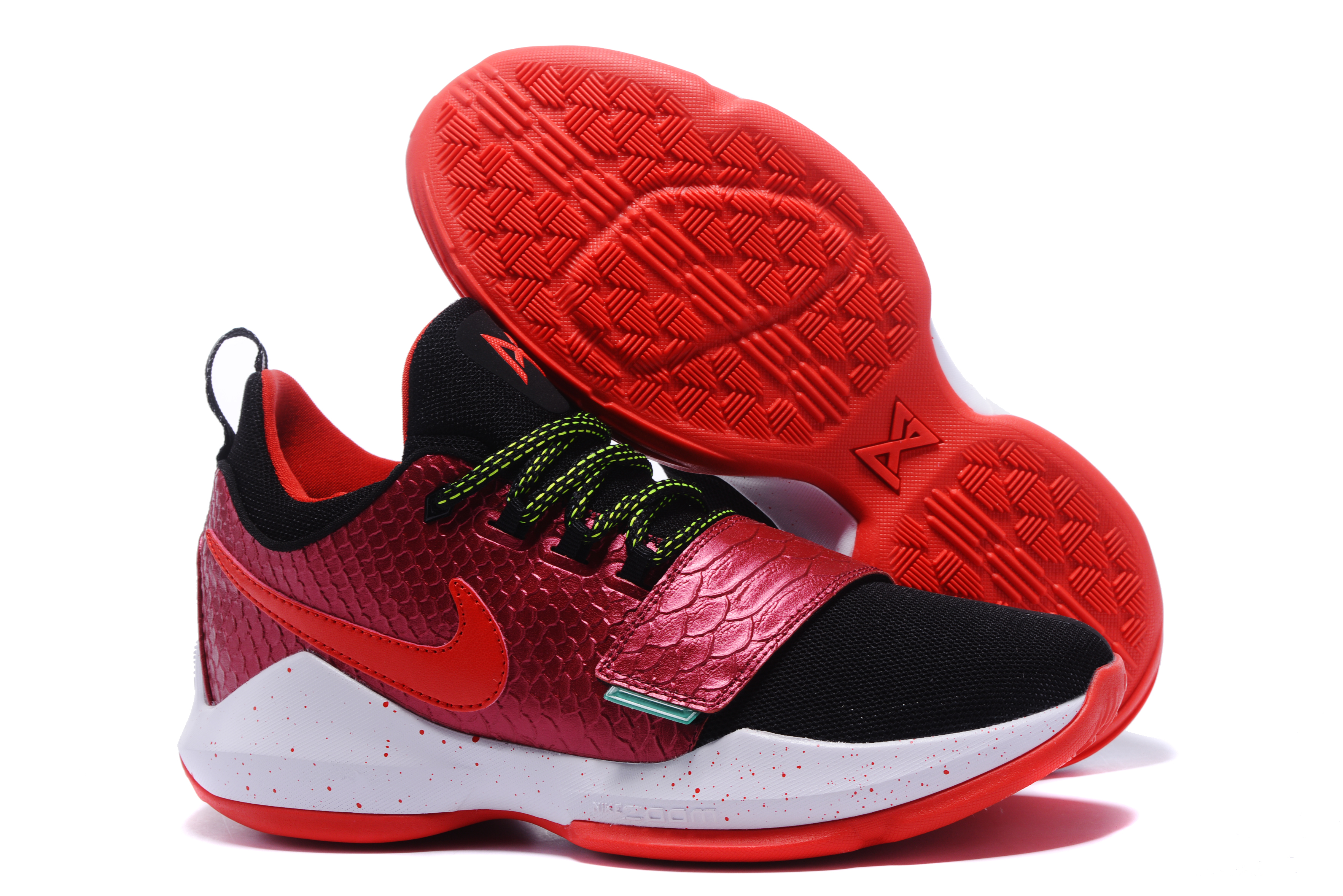 Paul George 1 Black Wine Red Shoes On Sale