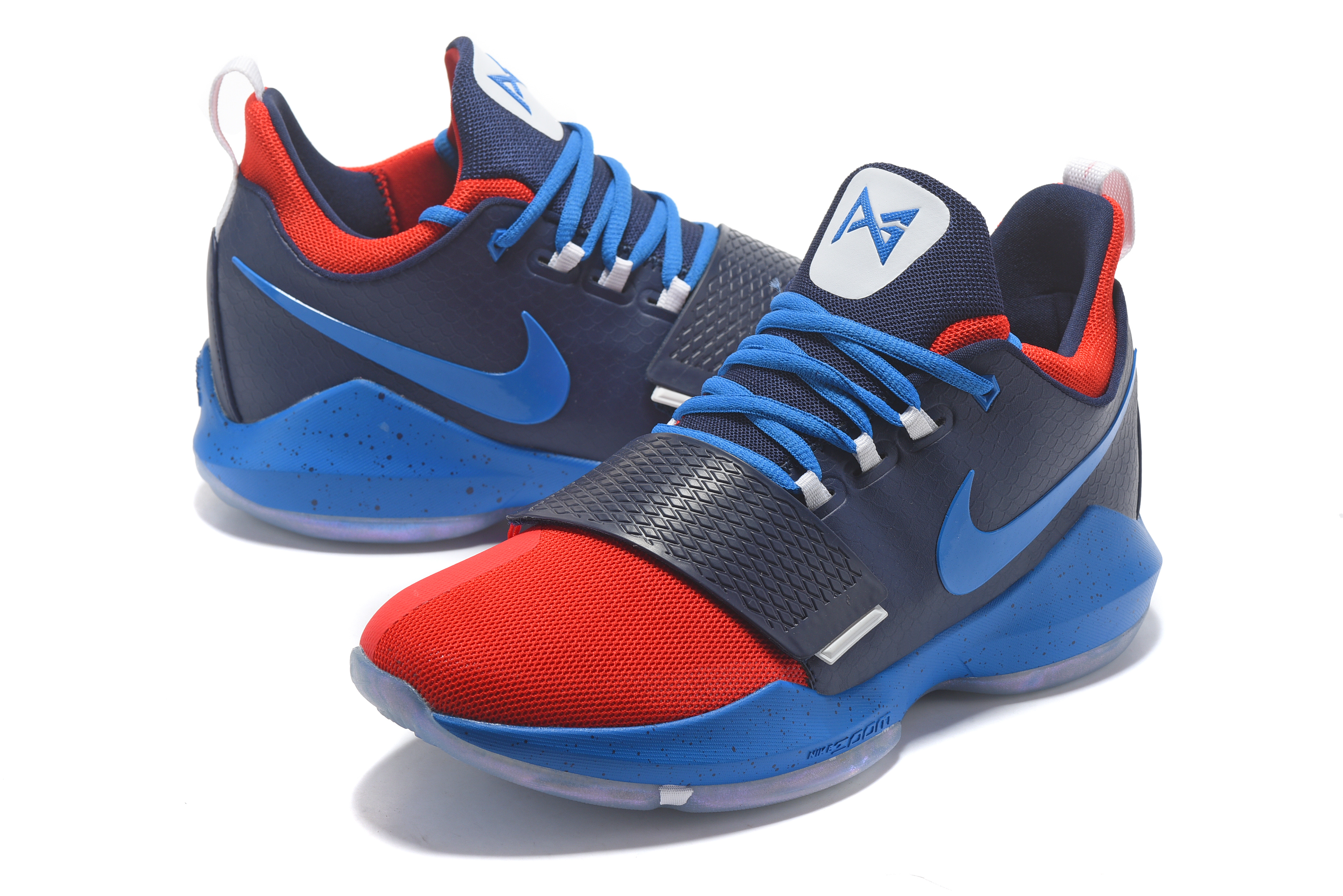Paul George 1 Dark Blue Red Shoes On Sale
