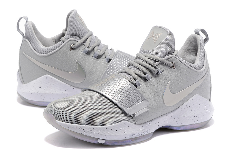 Paul George 1 Sliver Grey Shoes On sale