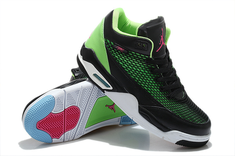 New Arrival Air Jordan Flight Club 80S Black Green White Red Shoes