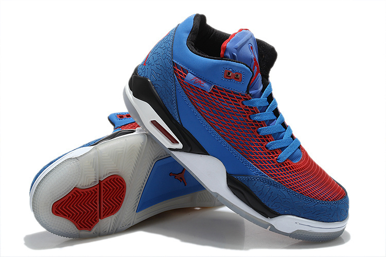 New Arrival Air Jordan Flight Club 80S Blue Red White Shoes