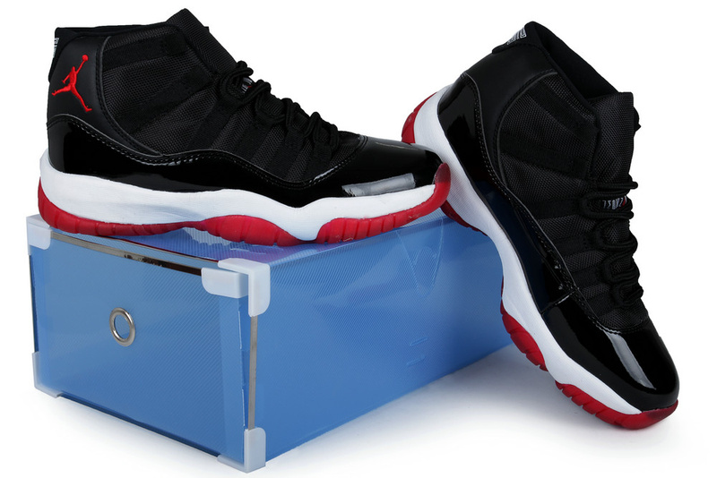 2013 Summer Jordan 11 Retro Black Red White Crystal Transparent Package
