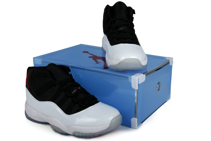 2013 Summer Jordan 11 Retro Black White Crystal Transparent Package