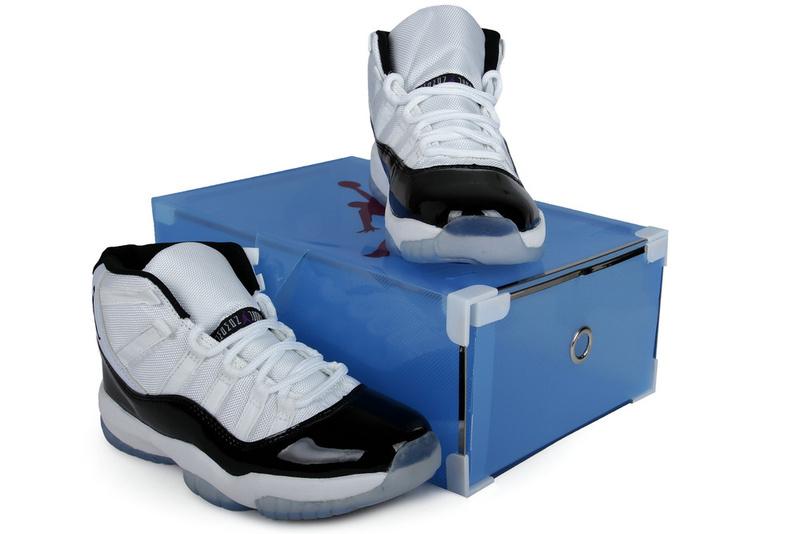 2013 Summer Jordan 11 Retro White Black Crystal Transparent Package ... 99237531d2