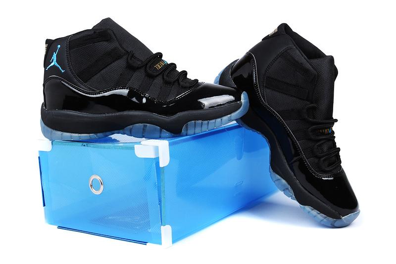 reputable site 38f94 b42ad 2013 Superman Jordan 11 Retro Edition All Black Shoes