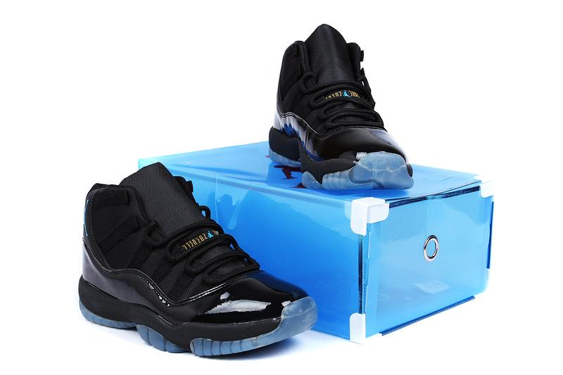 check out 13691 1c949 ... 2013 Superman Jordan 11 Retro Edition All Black Shoes ...