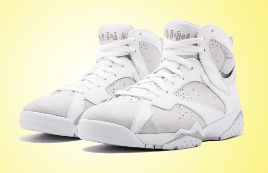 Women Pure Money Cheap Jordan 7 White Metallic Silver-Pure Platinum