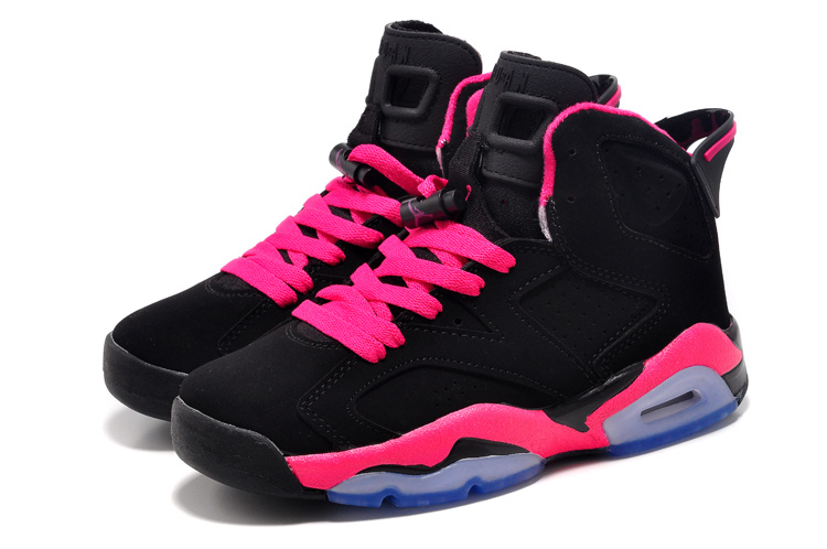 2bced6ed7ea7d1 Womens Air Jordan 6 Retro GS Black Fusion Pink Shoes  17NAJ540 ...