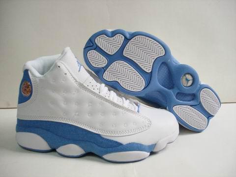 air jordan XIII retro white light blue