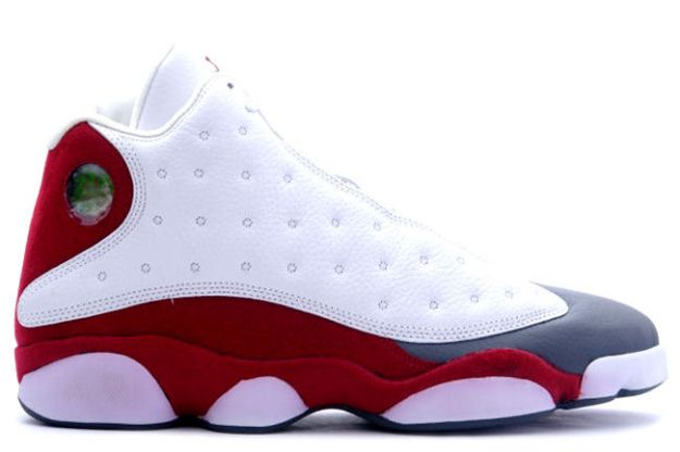 air jordan XIII retro white team red flint grey