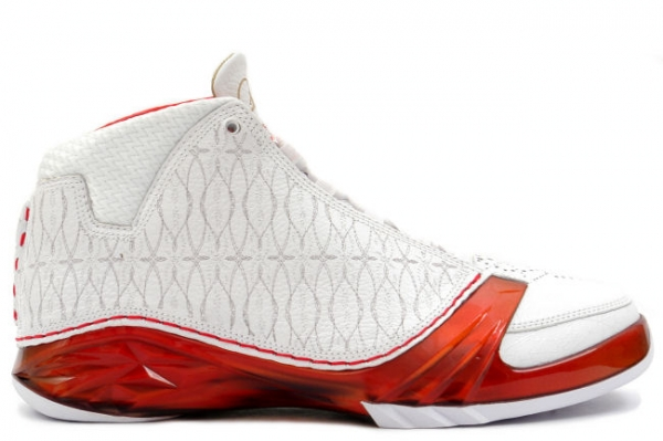 air jordan XXIII white varsity red metallic silver