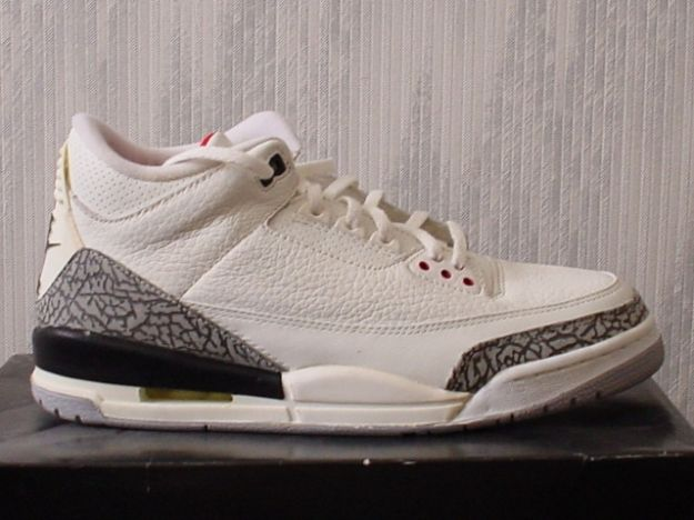 Real Air Jordan III Retro 1994 White Cement Grey