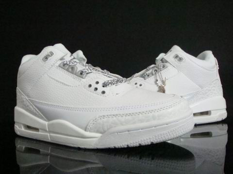 Real Air Jordan III Retro All White