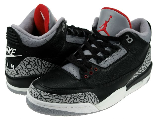 Real Air Jordan III Retro Black Cement Grey