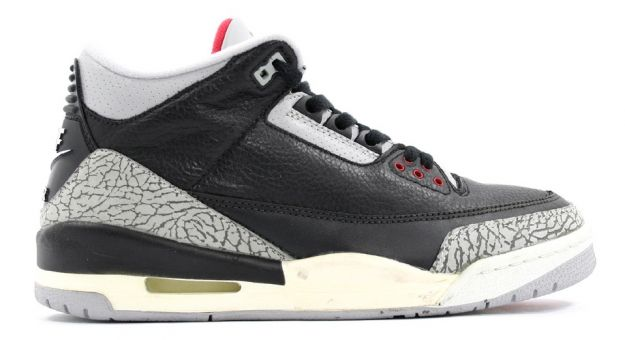 Real Air Jordan III Retro Black Cement Grey Countdown Pack