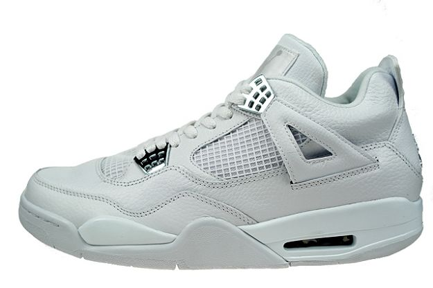 cheap authentic air jordan IV retro pure money white metallic silver